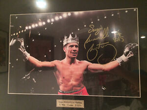 Sergio Martinez signed 16 by 20 picture frame with plaque name