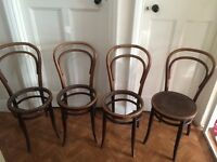 Antique Cane back chairs x4