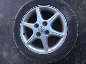 SET OF 4 BRAND NEW WINTER TIRES USED ONLY 1 MONTH 95%
