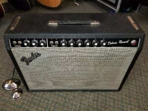 1981 Fender Deluxe Reverb Amp w/2 foot pedals