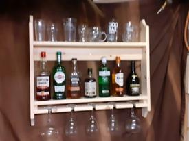 Garden bar drinks shelf