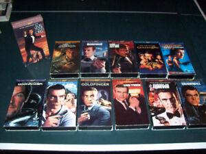 VHS  VIDEOS  --  JAMES  BOND,  CHILDRENS, ETC. ETC.