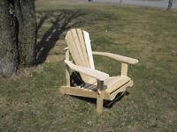 Chaise Adirondack  ( Cèdre de l'est )
