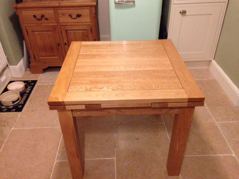 Oak Furnitureland Dorset 3ftx3ft Extending Dining Table Furniture Land