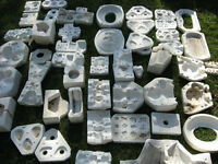 Moulds for garden statues