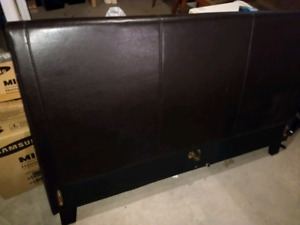 MOVING SALE:  Leather Queen Bedframe