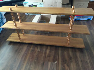 Wood shelf and desk in great condition