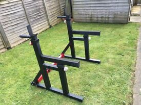 Bodymax Squat Rack with Spotter Catchers