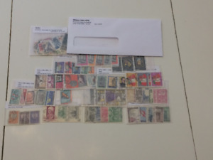 Pérou-205 timbres incluant les doublons (1923-1979)