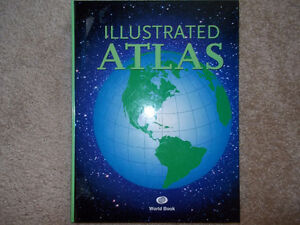 Illustrated Atlas-World Book---Awesome, colourful resource book