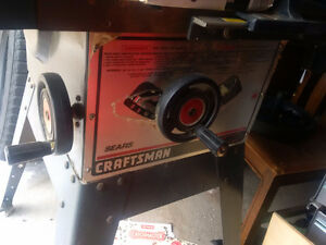 "Craftsman 10"" table saw with cast iron top"