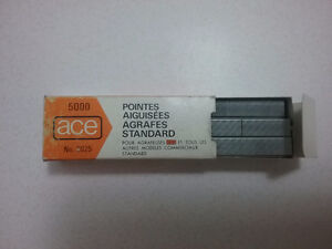 5000 ace chisel pointed standard staples