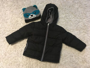 Size 3 - Winter Coat & Hat
