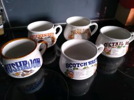 5 soup bowls