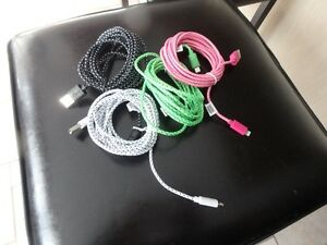 10ft braided cable USB sync and charge for iPhone and iPad