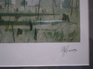 """Full Signature A.J. Casson-""""Morning Mist""""-Limited Edition Print Kitchener / Waterloo Kitchener Area image 4"""
