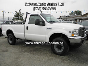 2001 Ford F-250 XL F-350 4x4 Long Box Low km Pickup Truck