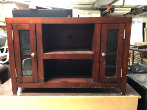 Wooden Tv stand with Glass Panels