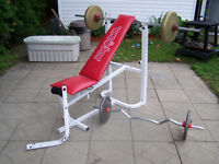 Bench Press WEIIDER - Banc d'exercise avec poids