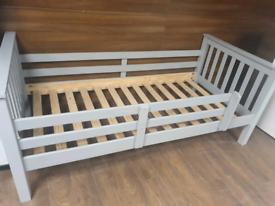 40. Grey single bed frame