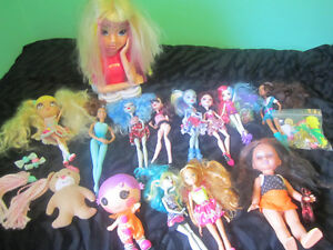 12 Monster High and Aquestria Girls doll