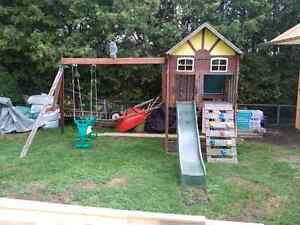 Outdoor Play House / Play Centre Swing & Slide