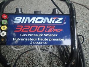 Simoniz 3200 PSI Gas Pressure Washer like new