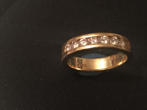 Stunning Solitaire and Diamond band Cambridge Kitchener Area image 2