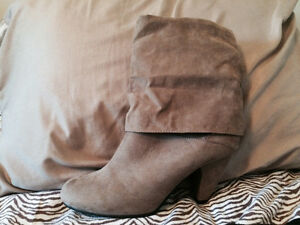 Brown Suede Boots-Never worn