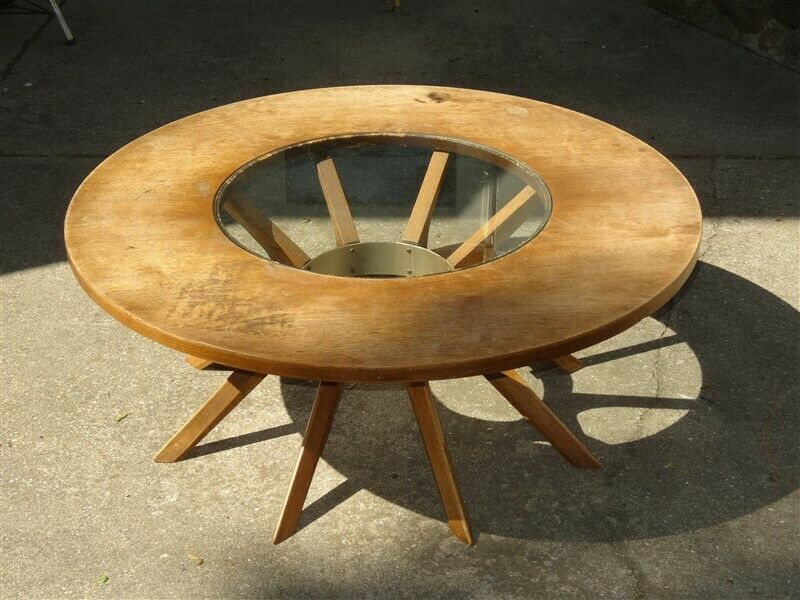 1970 Mid Century Broyhill Brasilia Cathedral Coffee Table * AS IS
