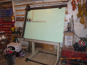 Drafting table and arm