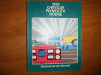 1978 Dodge Charger Plymouth Fury Volare Aspen Electrical Manual