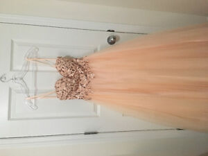 Peach Prom Dress for Petite Size Tailored XS