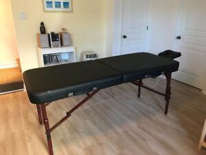 Table de massothérapie portative