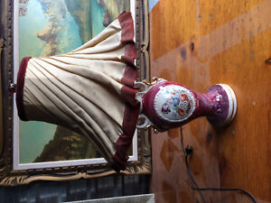 ** Antique Lamps Red/White $45 each**