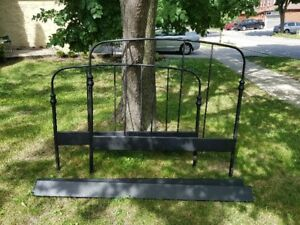 Double wrought iron bed