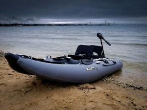 Scout 365 Inflatable Fishing Boat with Tolling Motor, and more