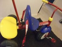Radio Flyer Tricycle with Long Metal Handle