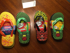 Reduced! New! Simpsons or charms flip flop shoes . Size small-lg Kitchener / Waterloo Kitchener Area image 1