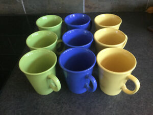 Dining/kitchen Cups ( 3 colours, 9 total)Brand New