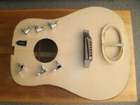 PROJECT 1967 GIBSON HUMMINGBIRD ACOUSTIC BODY w/ PARTS TO FINISH