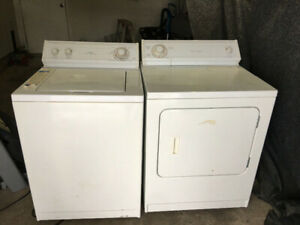 Quick sale whirlpool white topnload washer electric dryer 280