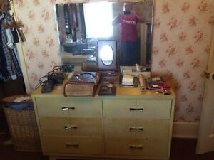 Dresser and double bed