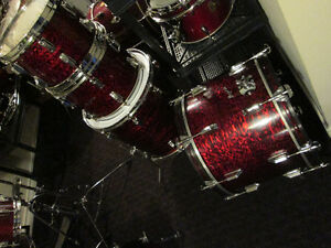 Rogers Maple Drum Kit, Rare,  late 1960,s Red Onyx.