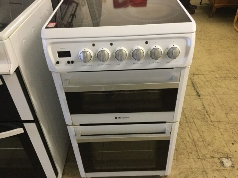 Hotpoint 50 cm Electric Cookerin Plymouth, DevonGumtree - Very good working 50 cm width double Oven and fan assistant Electric Cooker comes with warranty and free local delivery.Come and view at 14 Western Approach Plymouth PL1 1TQ. We got more cooker and lot more white goods