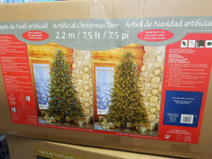 Artificial 7.5 ft Christmas tree, brand new in box