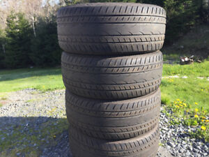 Four Yokohama 235/50R18 Summer Tires. Excellent Tread