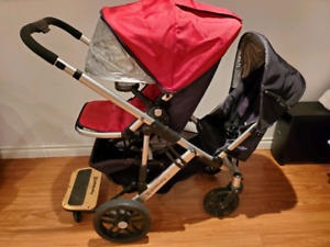 Uppababy Vista Double Stroller piggy board excellent condition!!