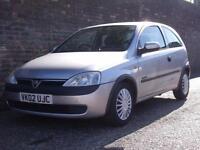 Vauxhall/Opel Corsa 1.2i 16v ( a/c ) Comfort 2002(02) 3 Door Hatchback