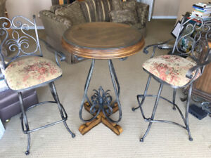 Bistro table and 2 chairs - $125